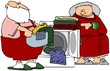 Santa Helping With Laundry