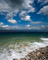 seascape and dramatic cloudscape
