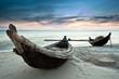 Fototapeten,vietnamese,boot,sonnenuntergang,sonnenaufgang