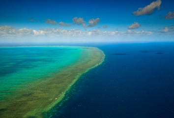 Aerial view of Arlington Reef at Great Barrier Reef Marine Park