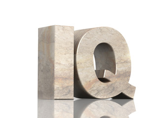 Stone 3d  letters I and Q