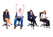 office people isolated over white