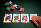 Poker hand royal flush win