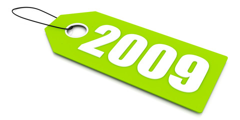 2009 sale ticket, new year and end of 2009