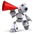 Robot et mégaphone