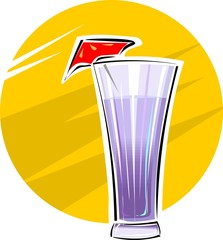 Illustration of a cup of juice