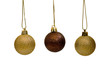 Three baubles