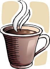Illustration of a cup of coffee