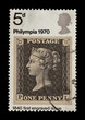 1970 British commemorative stamp featuring the penny black