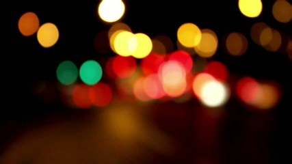 Car lights at night Bokeh