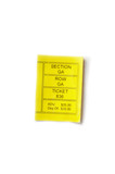 yellow ticket stub isolated on white background poster