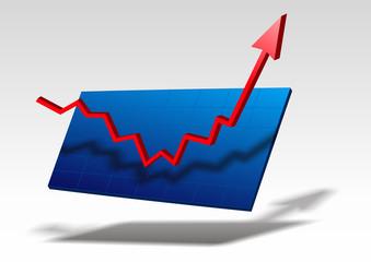 Geschäft Diagramm Pfeil Erfolg Aufschwung