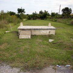 House foundation after Hurricane Katrina, New Orleans, Louisiana