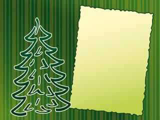 green xmas card