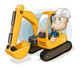 Excavator with Labor poster
