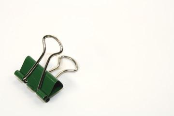 Büroklammer grün