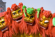 chinese lion dancing
