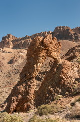 Queen's Shoe. a geological feature in tenerife, Spain