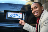 Business Man Success (Fictional License Plate) poster