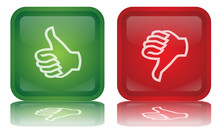 Wektor Thumbs Up & Down przyciski (Feedback - Positive - Negative)