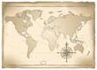 Antica mappa vettoriale