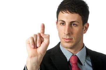 Businessman With Fingerprint