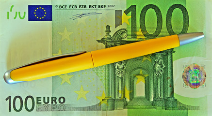 banknote from the 100 euro