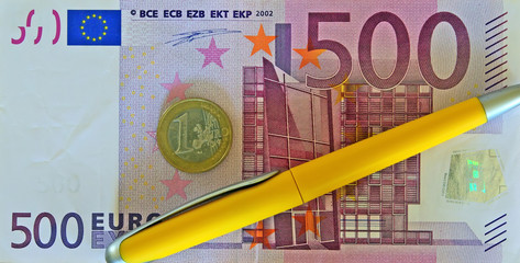 banknote from the 500 euro