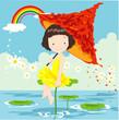 roleta: cute little fairy with umbrella