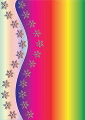 Rainbow  Winter Background