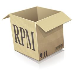 Paquet RPM ouvert (reflet)