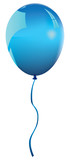 a blue plastic balloon poster