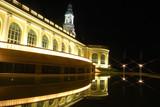 Le reflet nocturne du Palais Beaumont à Pau poster