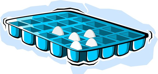 Illustration of a ice cube tray