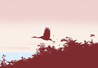 鶴の旅たち