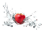 Apple causing water splash