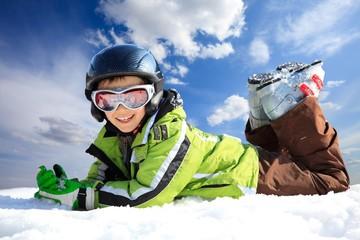 Boy in ski wear