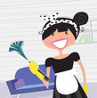 Housewife – french maid. VECTOR ILLUSTRATION.