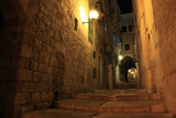 An alley in the old city of Jerusalem at night, Israel. - 19008718
