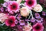Fototapety Blumenstrauß mir leuchtenden Farben
