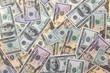 Dollar Geldscheine als Hintergrund