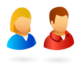 vector user avatars male and female