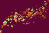 messy swirling abstract square background