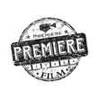 Film premiere rubber stamp