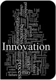 Innovation word cloud illustration