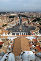 Square of St. Peter's Basilica from the Petersdom's roof