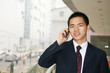 young asian businessman in office