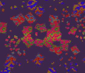 Fond abstrait (carrés pop art)