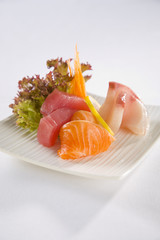 Salmon Tuna and Kingfish Sashimi plate