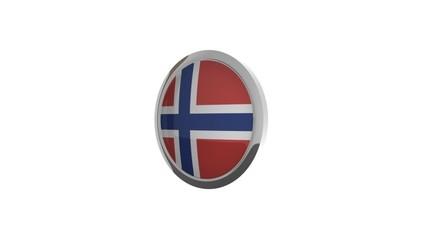 rotierender Button Flagge Norwegen